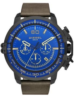Diesel Men's Deadeye Leather Strap Chronograph Watch, 51mm