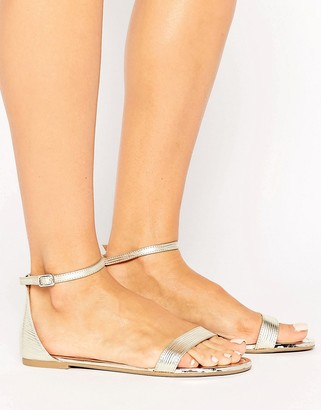 Call it Spring Call It Spring Metallic Gold Flat Sandals $48 thestylecure.com