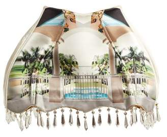 Mary Katrantzou Archway Lampshade Printed Satin Mini Skirt - Womens - White Multi