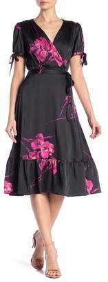 Betsey Johnson Vintage Floral Print Fit and Flare Dress