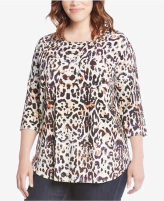 Karen Kane Plus Size Shirttail-Hem Top