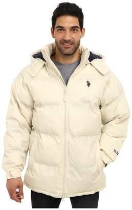 U.S. Polo Assn. Signature Long Bubble Coat w/ Small Pony Polar Fleece Lining Men's Coat