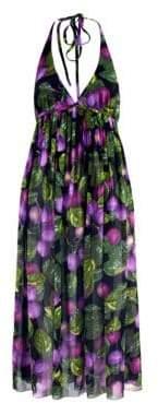 Marc Jacobs Redux Grunge Plum Georgette Halter Dress