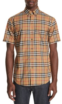 Burberry Jameson Woven Slim Fit Check Sport Shirt