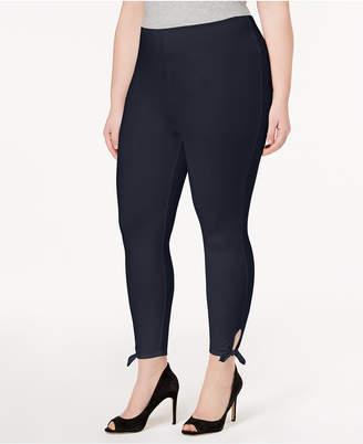 Lysse Women's Plus Size Side-Tie Cropped Leggings