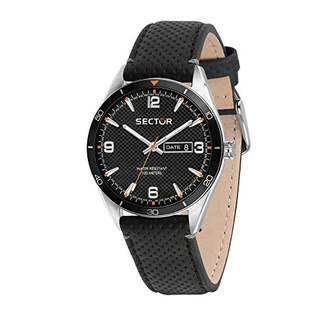 Sector No Limits Men's 770 Stainless Steel Quartz Sport Watch with Leather Calfskin Strap