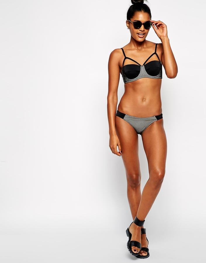 Asos Fishnet Tab Side Bikini Pant