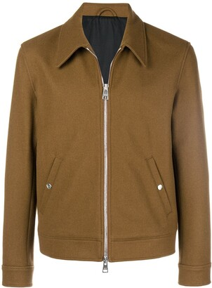 Ami Paris Snap Buttoned Zipped Jacket