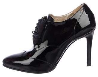 Chanel Patent Leather Ankle Boots