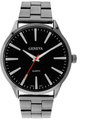 GENEVA Mens Geneva Gunmetal Round Dial Watch 33572
