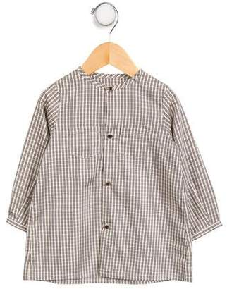 Marie Chantal Girls' Pattered Button- Up Top