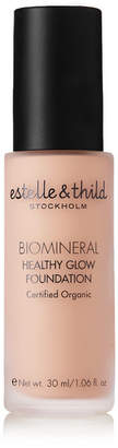 Estelle & Thild Biomineral Healthy Glow Foundation - Dark Pink 115, 30ml