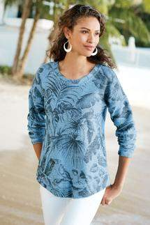 Soft Surroundings Mariwai Pullover