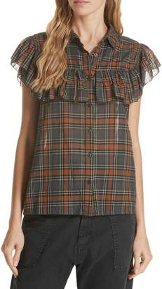 The Great Camp Fee Ruffle Yoke Blouse
