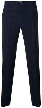 Dolce & Gabbana check slim fit trousers