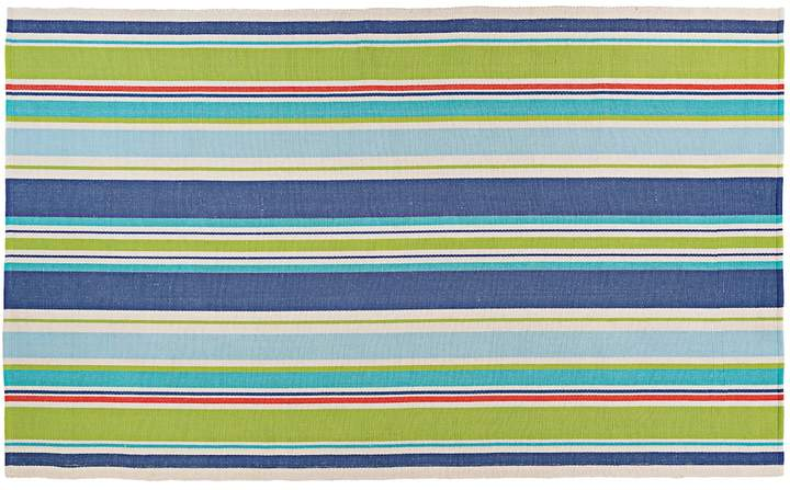 Couristan Couristan Bar Harbor Splish Splash Striped Reversible Cotton Rug
