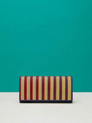 Diane von Furstenberg Continental Raffia Wallet
