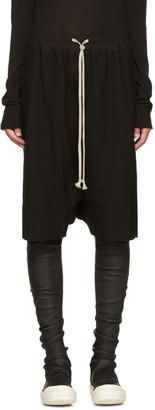 Rick Owens Black Pod Shorts $590 thestylecure.com