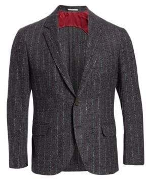 Brunello Cucinelli Donegal Stripe Suit Jacket