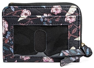 Mossimo Supply Co Credit Card Faux Leather Wallet  Mossimo  Supply  Wallet  Black  Floral $6.99 thestylecure.com