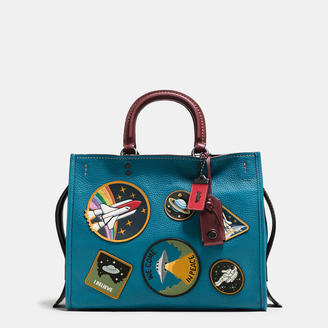 COACH Coach Rogue In Natural Pebble Leather With Space Patches $895 thestylecure.com