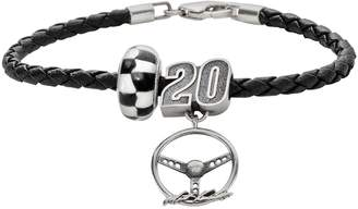 Insignia Collection NASCAR Matt Kenseth Leather Bracelet & Sterling Silver 20 Charm & Bead Set