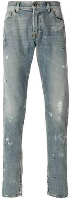 Ih Nom Uh Nit paint smear jeans