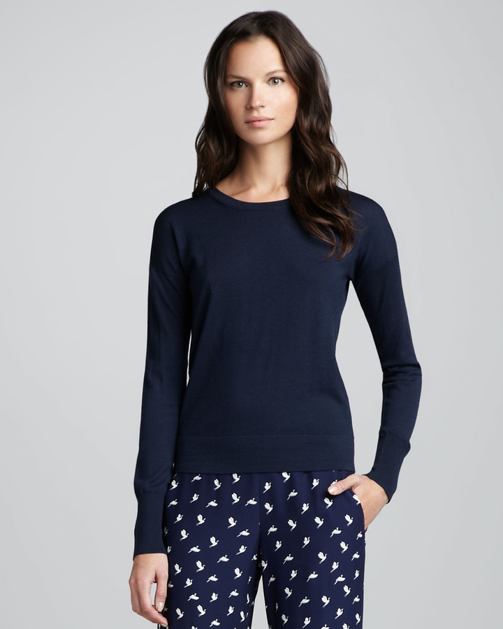 Theory Yulia Y Cotton-Cashmere Sweater