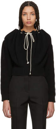 Calvin Klein Black Cropped Drawstring Sweater
