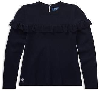 Polo Ralph Lauren Girls' Ruffled Sweater - Big Kid
