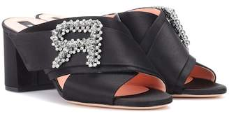 Rochas Embellished satin sandals
