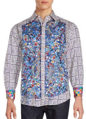 Contrast Patch Cotton Shirt $278 thestylecure.com