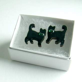 Matin Lapin Lucky Black Cat Cufflinks