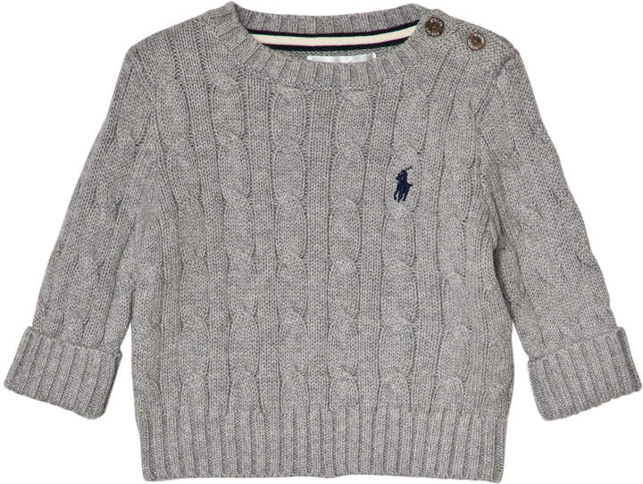 Ralph Lauren Grey Cable Knit Jumper with PP