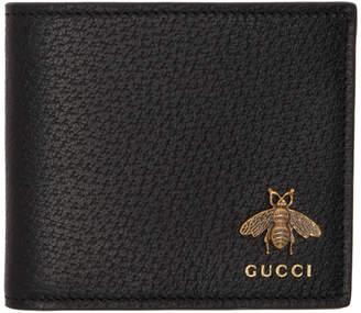 Gucci Black Animalier Bee Wallet