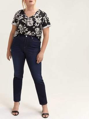 Petite Shaping Slim Blue Jeans - L&L