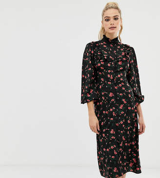 1692e839b75 Fashion Union Tall midi shirt dress in spot