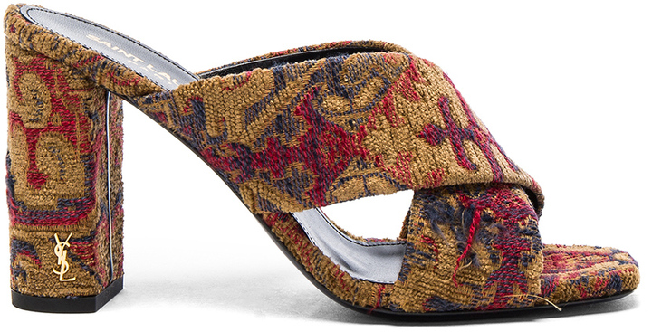Saint Laurent Saint Laurent Loulou Tapestry Mules