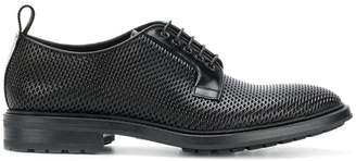Emporio Armani raised detail lace-up shoes