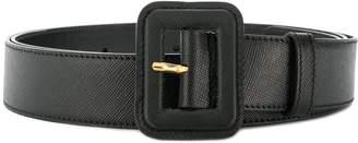 Prada wide buckle belt