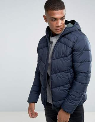 Jack and Jones Originals Quilted Jacket with Hood