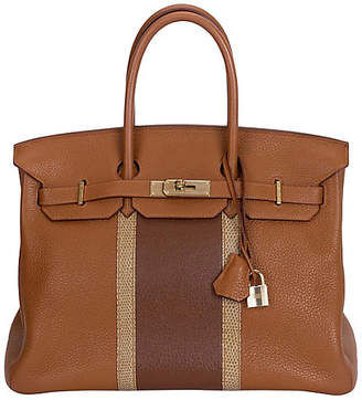 One Kings Lane Vintage HermAs 35cm Gold & Marron Club Birkin - Vintage Lux