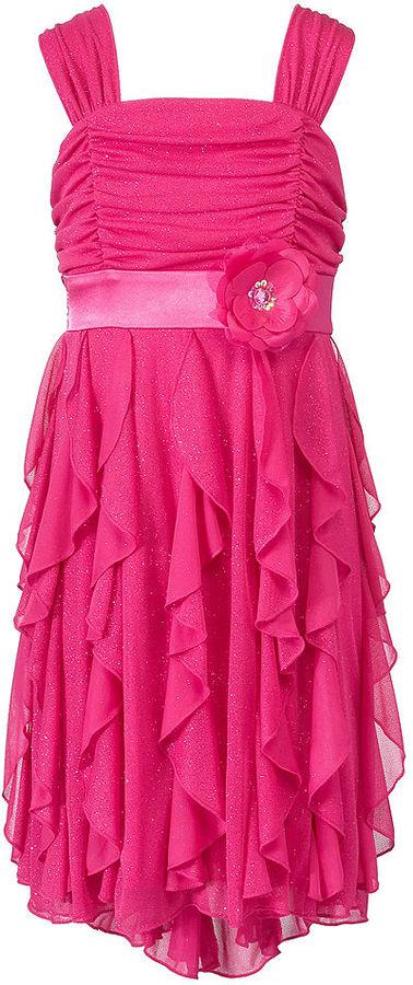 Sequin Hearts Girls Dress, Girls Corkscrew Dress