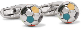 Paul Smith Football Enamelled Silver-Tone Cufflinks