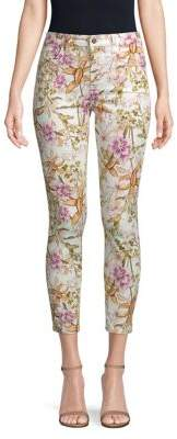 7 For All Mankind Jen7 by Skinny Floral Ankle Jeans