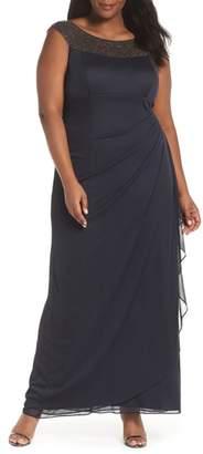 Xscape Evenings Beaded Yoke Gown