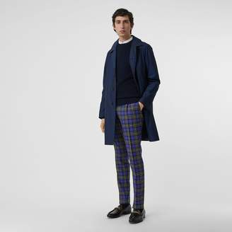 Burberry Soho Fit Tartan Wool Tailored Trousers