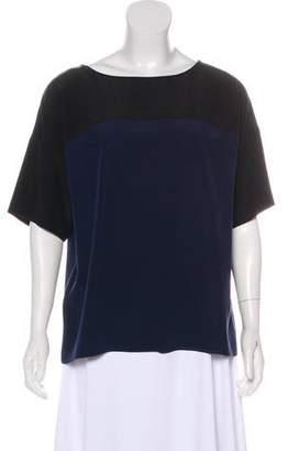 Vince Silk Three-Quarter Sleeve Top
