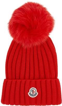 da9dcd08376a69 Moncler Fox Fur Bobble Hat
