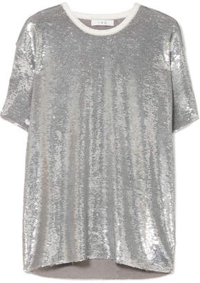 IRO Natesa Oversized Sequined Jersey T-shirt